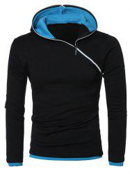 Hooded Side Zipper Design Long Sleeve Hoodie