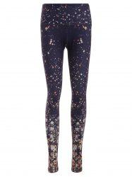 Galaxy Print Skinny Yoga Pants