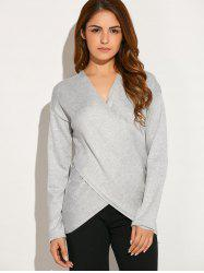 Criss Corss Asymmetric Sweater