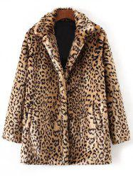 Faux Fur Leopard Coat -