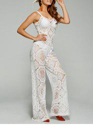 Sleeveless Lace Jumpsuit Palazzo Pants -