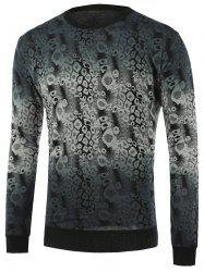 Ombre Abstract Pattern Crew Neck Knitwear -