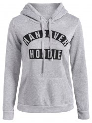 Casual Drawstring Hangover Hoodie -