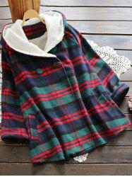 Plaid Hooded Swing Coat