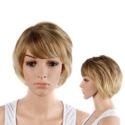 Graceful Short Double Color Side Bang Straight Synthetic Wig