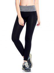 Slimming  High Waisted Yoga Leggings - GRAY