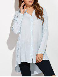 Button Front Mini Shirt Dress