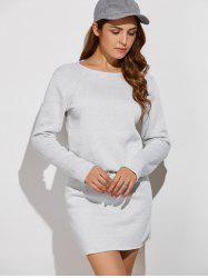 Long Sleeve Drawstring Sweatshirt Dress