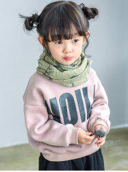 Kids Long Sleeve Letter Pullover Sweatshirt -