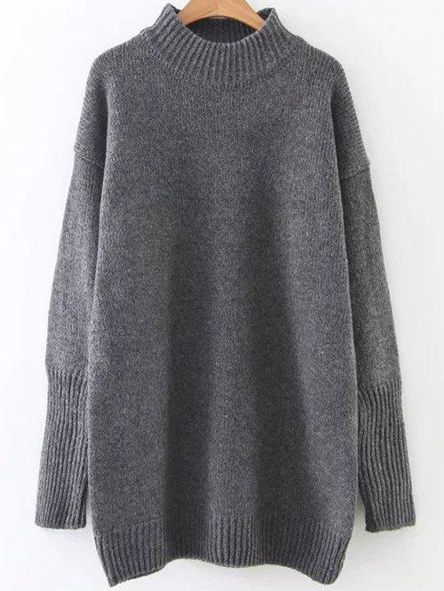Buy High Neck Long Loose Sweater