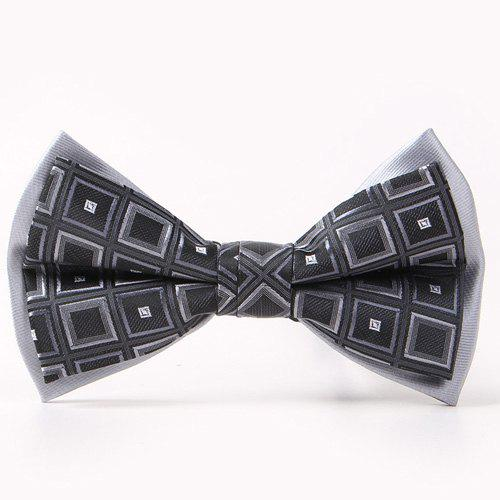 Tartan Pattern Double-Deck Bow TieACCESSORIES<br><br>Color: BLACK; Type: Bow Tie; Group: Adult; Style: Fashion; Pattern Type: Plaid; Material: Polyester; Weight: 0.038kg; Package Contents: 1 x Bow Tie;
