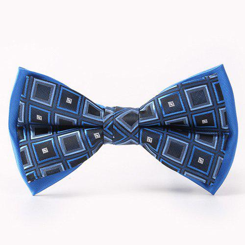 Tartan Pattern Double-Deck Bow TieACCESSORIES<br><br>Color: BLUE; Type: Bow Tie; Group: Adult; Style: Fashion; Pattern Type: Plaid; Material: Polyester; Weight: 0.038kg; Package Contents: 1 x Bow Tie;