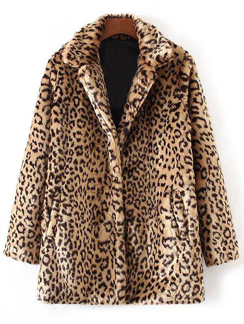 Sale Faux Fur Leopard Coat