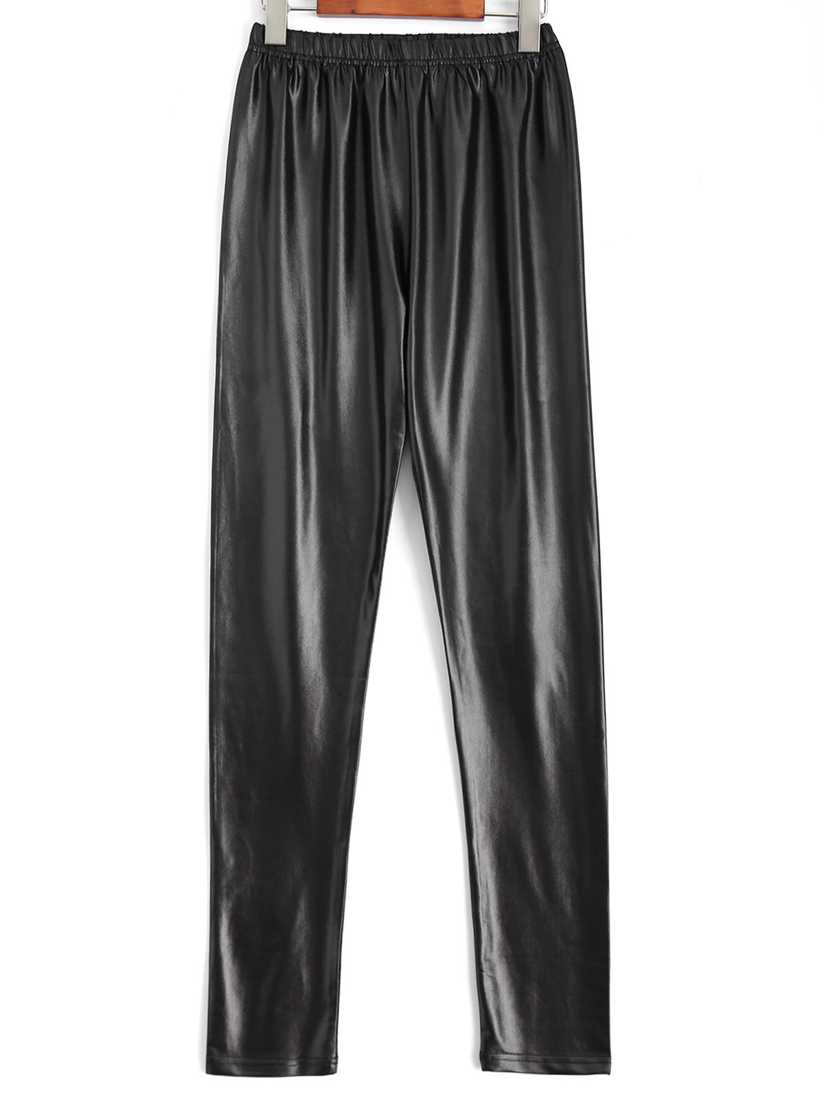 Plus Size Faux Leather Pencil PantsWOMEN<br><br>Size: 4XL; Color: BLACK; Style: Fashion; Length: Normal; Material: Faux Leather; Fit Type: Skinny; Waist Type: High; Closure Type: Elastic Waist; Pattern Type: Solid; Pant Style: Pencil Pants; Weight: 0.266kg; Package Contents: 1 x Pants;