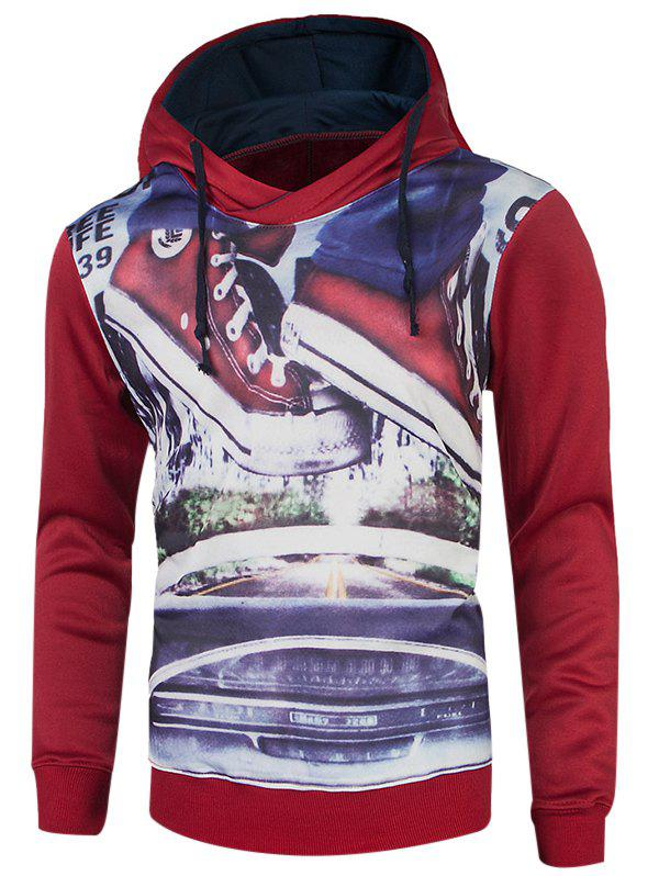Image of Long Sleeve Drawstring Graphic Hoodie