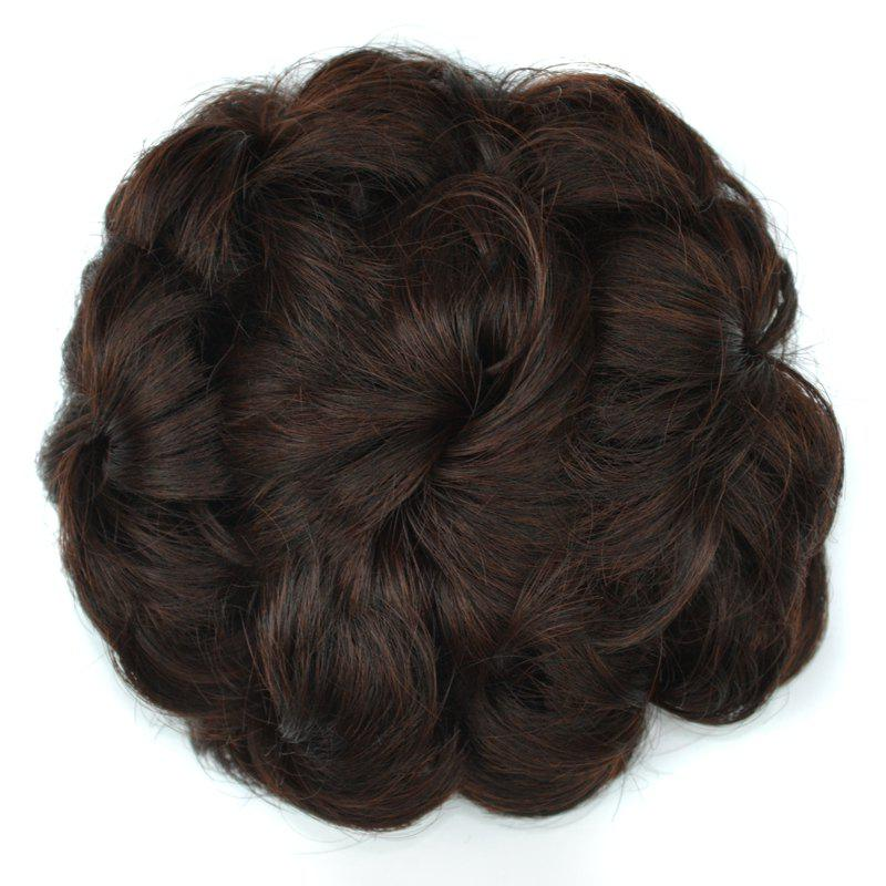 Bouffant Curly High Temperature Fiber Hair BunHAIR<br><br>Color: RED MIXED BLACK; Style: Chignons; Type: Loop; Hairstyling: Curly; Fabric: Heat Resistant Synthetic Hair; Length: Short; Weight: 0.070kg; Package Contents: 1 x  Ponytail;
