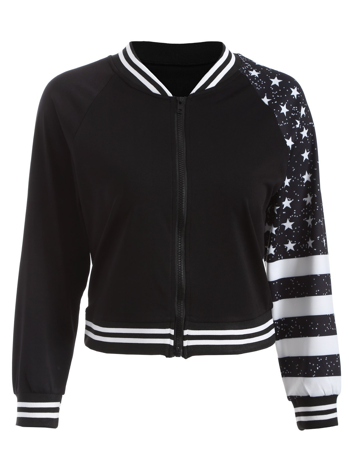 Shop Stars Stripe Print Short Jacket