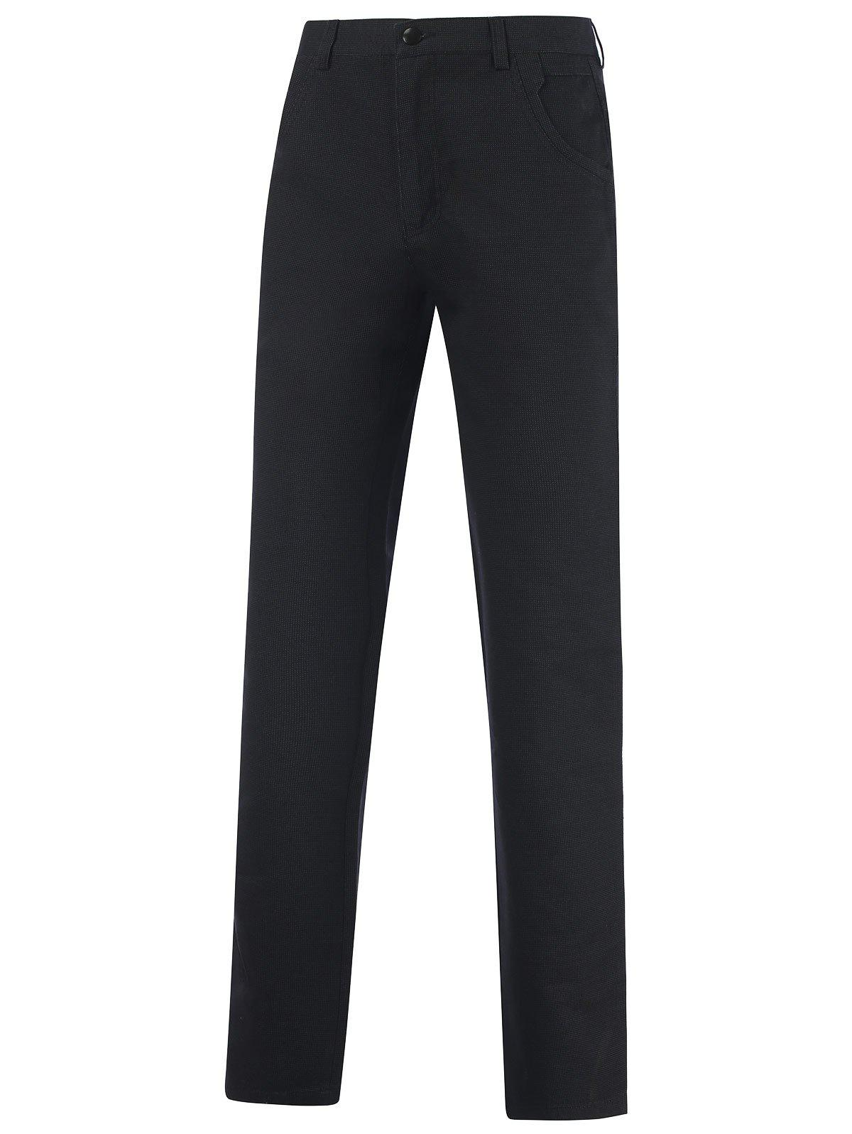 Buy Casual Zipper Fly Straight Leg Tailored Pants