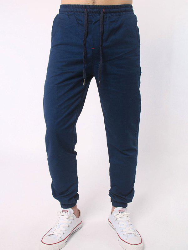 Latest Number Embroidered Zipper Bmbellished Chino Jogger Pants