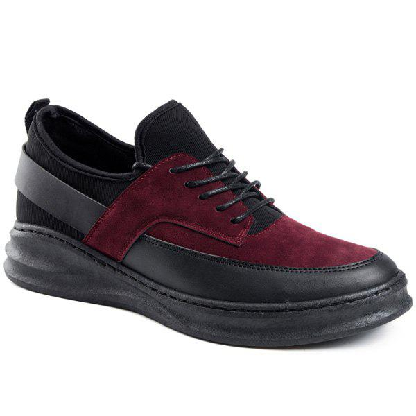 Online PU Leather Tie Up Casual Shoes