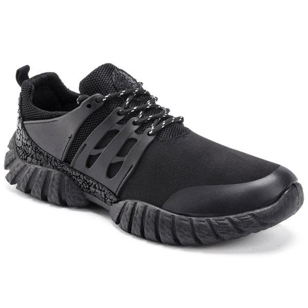 Outfits Colour Spliced Suede Breathable Athletic Shoes