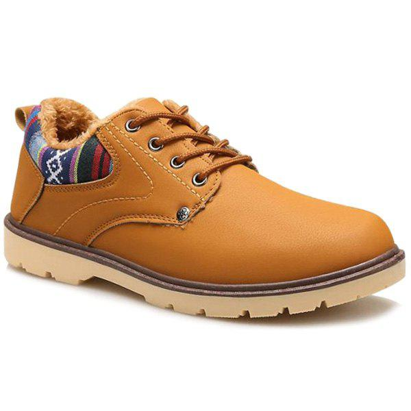 Affordable Color Block Tie Up Casual Shoes