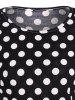 Long Sleeve Polka Dot  T-Shirt -