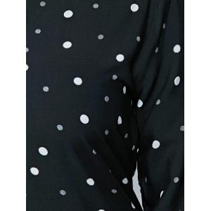 Plus Size Polka Dot Print Dress - BLACK 5XL
