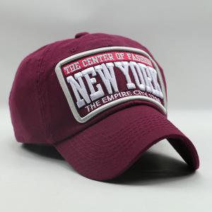 Heart Letter Embroidery Patch Baseball Hat - WINE RED