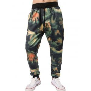 3D Hands Print Beem Feet Jogger Pants