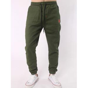 Plus Size Letter Embroidery Army Jogger Pants