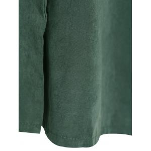 Asymmetric Duster Coat - GREEN 3XL