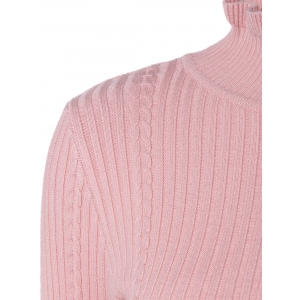 Mock Neck Long Sleeve Tight Pullover Sweater -