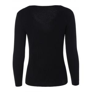Casual Long Sleeve Tight Pullover Sweater -