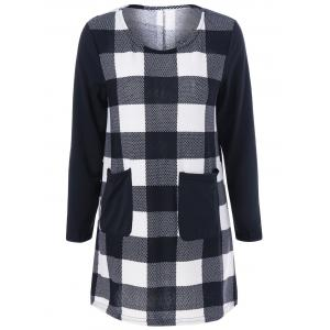 Plaid Pocket Mini Dress