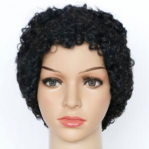 Skilful Short Curly Synthetic Wig - BLACK