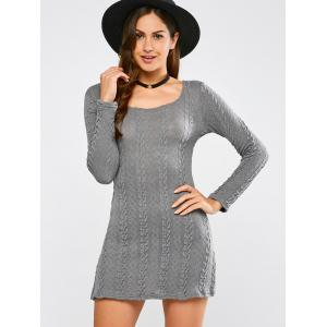 Tunic Cable Knit Mini Jumper Dress -