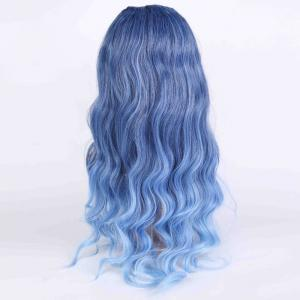 Long Ombre Inclined Bang Wavy Shaggy Anime Wigs -