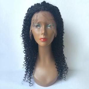 Long Shaggy Kinky Curly Lace Front Human Hair Wig -