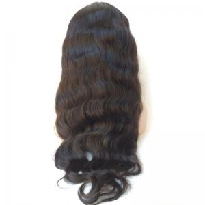 Middle Parting Long Body Wave Lace Front Human Hair Wig - BLACK