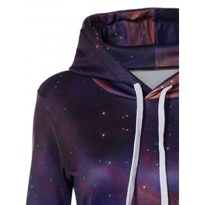 Galaxy Print with Pocket Slimming Dress -