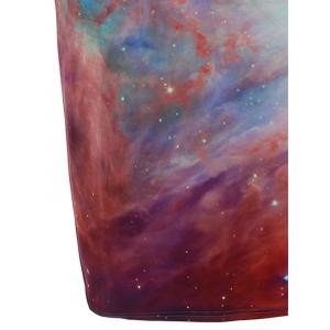 Galaxy Print with Pocket Slimming Dress - COLORMIX L
