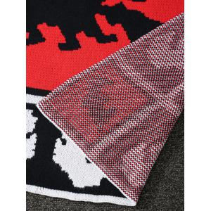 Originalité Sorcière Motif tricoté Rectangle Blanket -