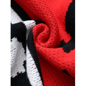 Originality Witch Pattern Knitted Rectangle Blanket - RED