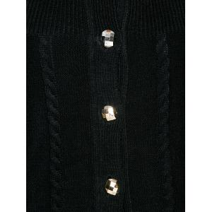 Cable Knit Cardigan With Buttons -