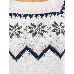 Merry Christmas Snowflake Sweater -