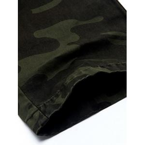 Plus Size Pockets Camouflage Army Cargo Pants - GRAY 31