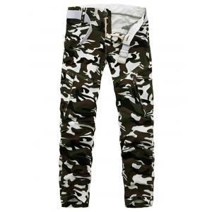 Plus Size Pockets Camouflage Army Cargo Pants