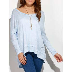 Round Neck Oversized High Low T-Shirt