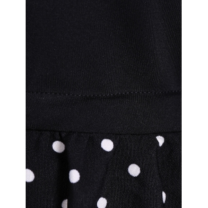 Polka Dot Splicing Plus Size Dress -